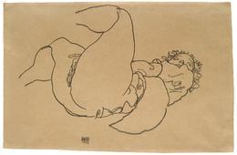 Reclining Female Nude with Raised Legs