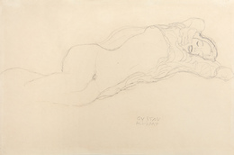 Reclining Semi-Nude to the Right, Study for