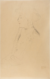 Woman in Profile Facing Left