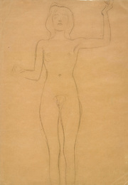 Standing Female Nude, Study for
