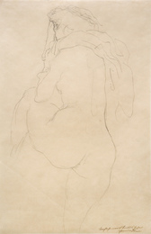 Nude with Bent Left Leg, Study for