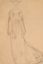 Standing from the Front with Hanging Arms, Study for the Portrait of Adele Bloch-Bauer