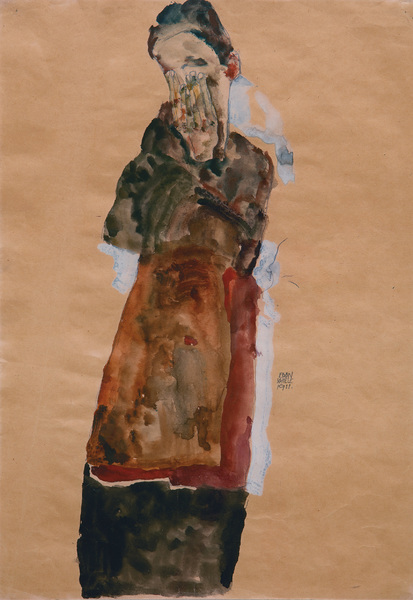 Egon Schiele 448 × 314 mm (17,6 × 12,4 in)