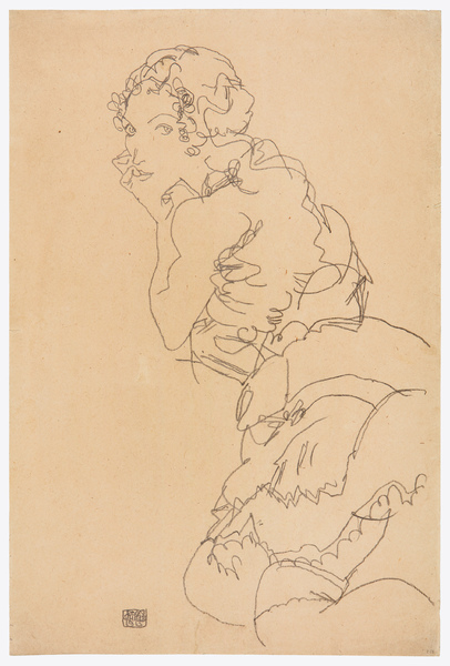 Egon Schiele 500 × 334 mm (19,7 × 13,1 in)