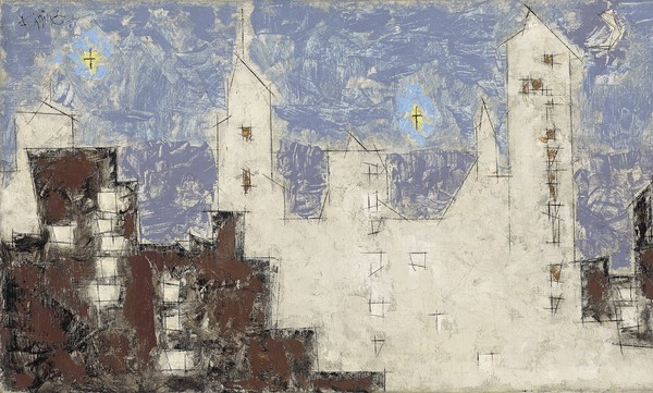 Lyonel Feininger Architecture with Stars II 41,5 × 71,6 cm (16,3 × 28,2 in)