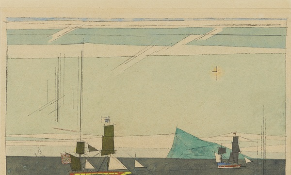 Lyonel Feininger Two Sailing Ships and Iceberg 55,1 × 77,3 cm (21,7 × 30,4 in)